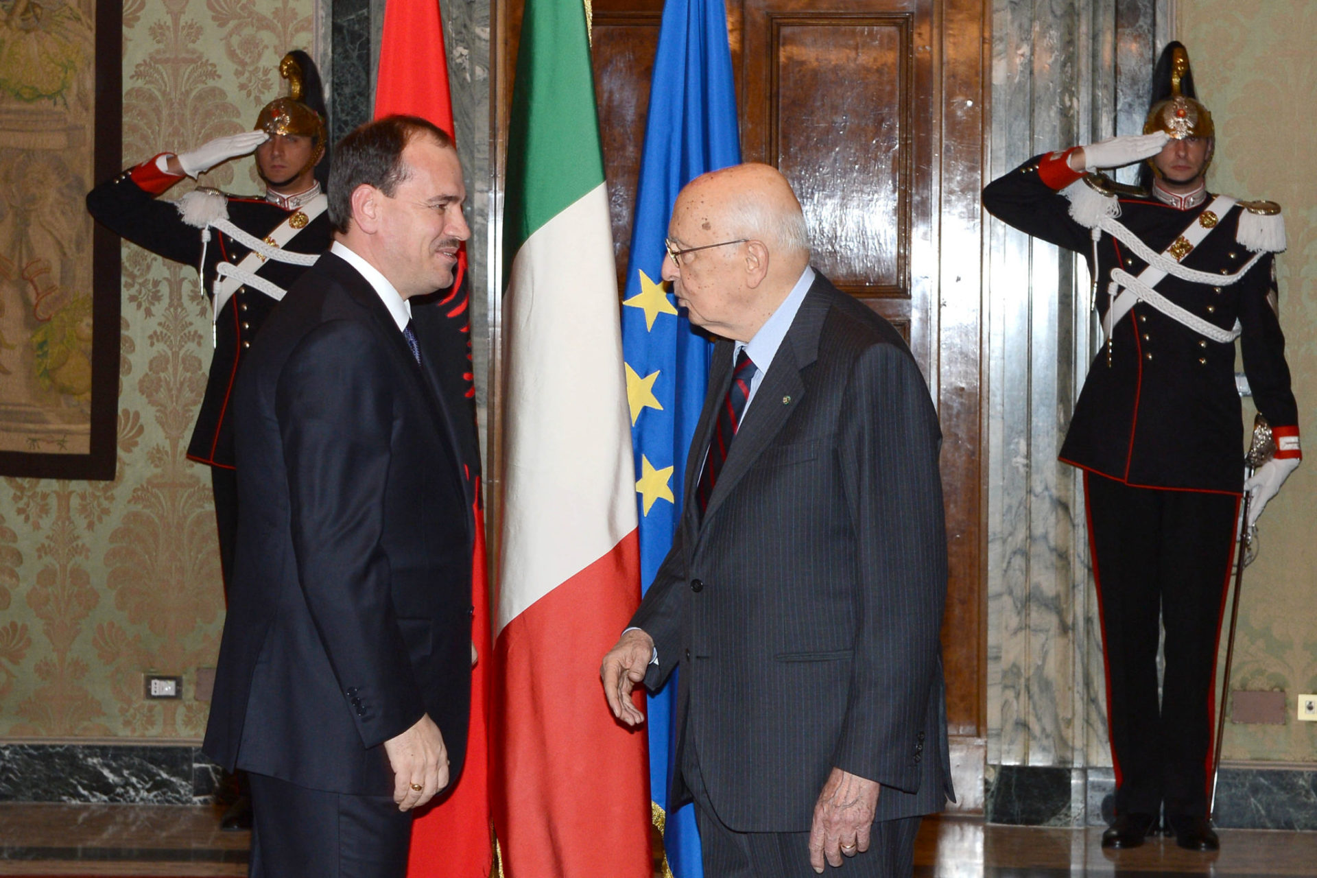 Nishani e Napolitano (archivio)