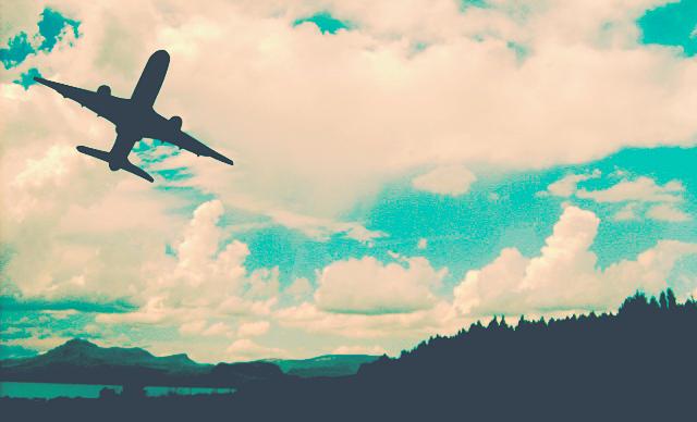 Il cielo dall'aereo