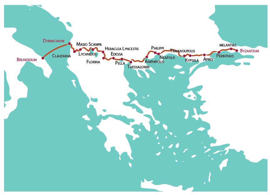 Il percorso della Via Egnatia