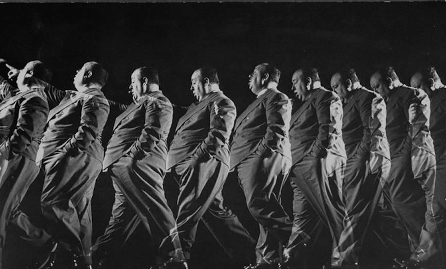 1942. Alfred Hitchcock Sul Set Di Shadow Of A Doubt Gjon Mili