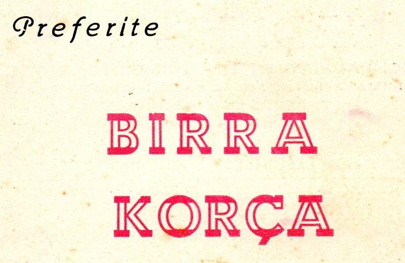 Pubblicità della Birra Korça sulla Rivista Drini