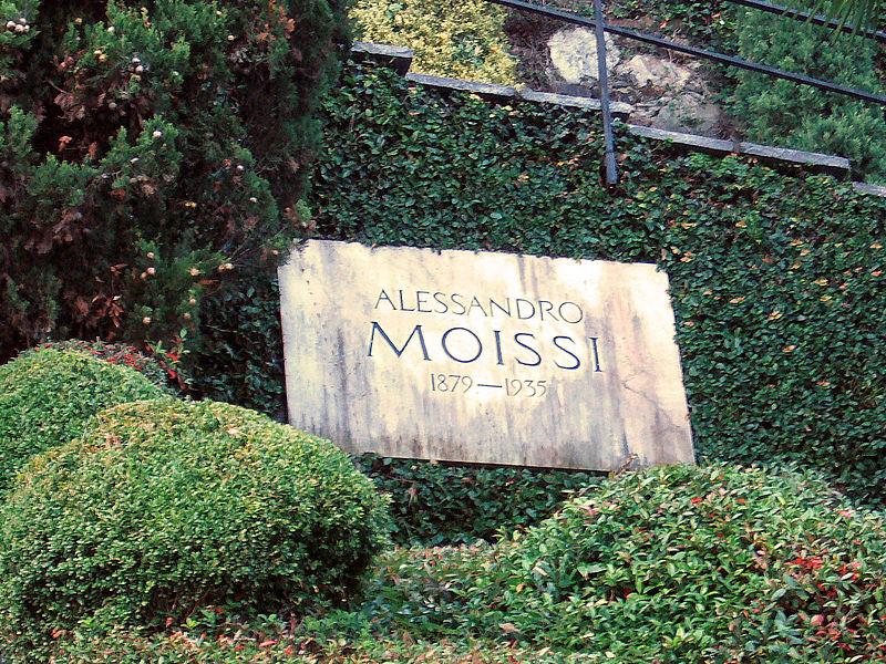 La tomba di Aleksandër Moisiu a Morcote