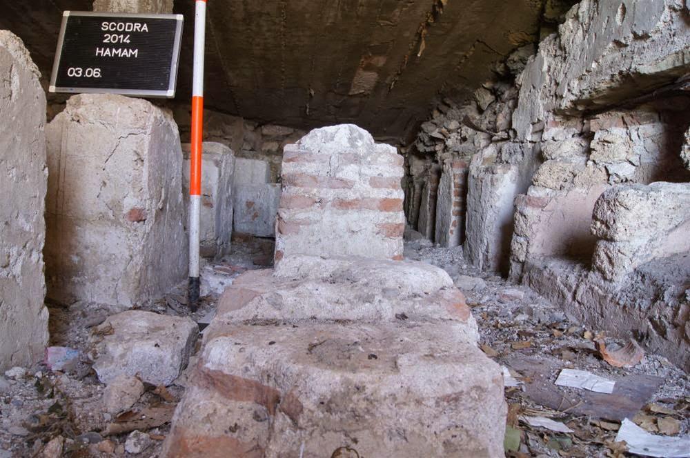 Resti dell'hammam turco di Scutari