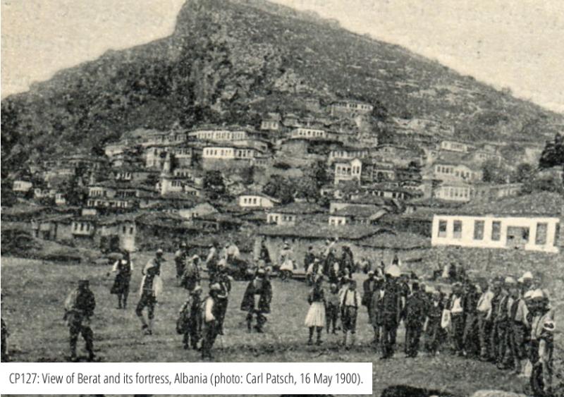 Vista di Berat e la sua fortezza